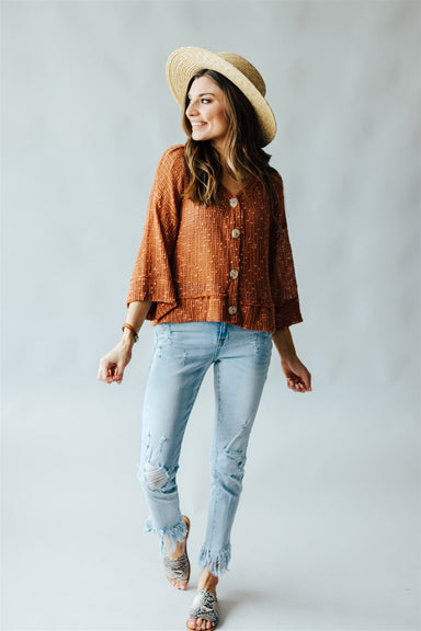 Sun Valley Top - Terracotta