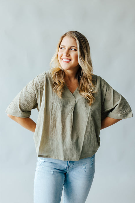 All Occasions Blouse - Light Olive