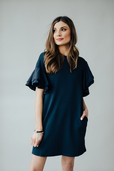 It's Up To You Dress - Navy