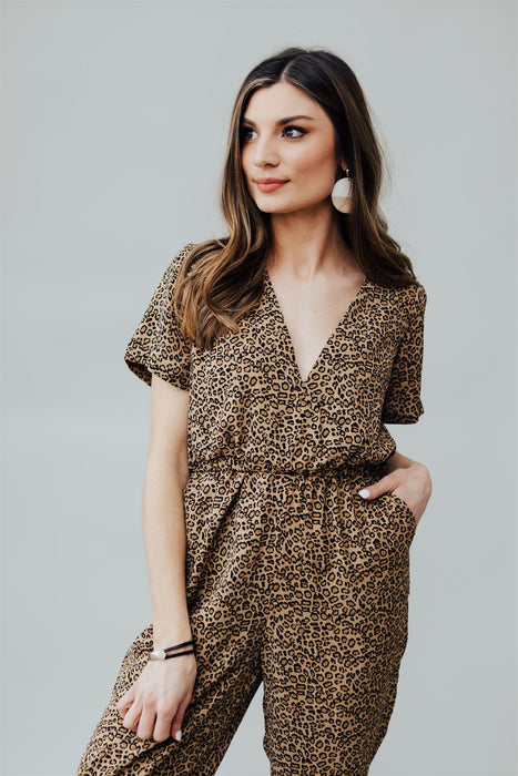On The Prowl Jumpsuit - Brown