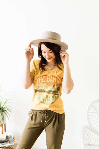 The Band Boyfriend Tee - Mustard