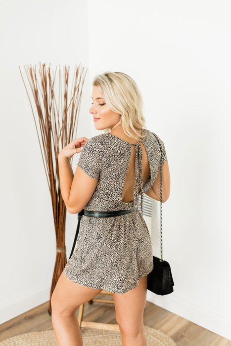 Love for Leopard Romper - Brown