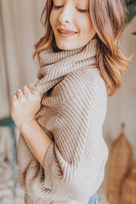 Snuggle In Sweater - Cream