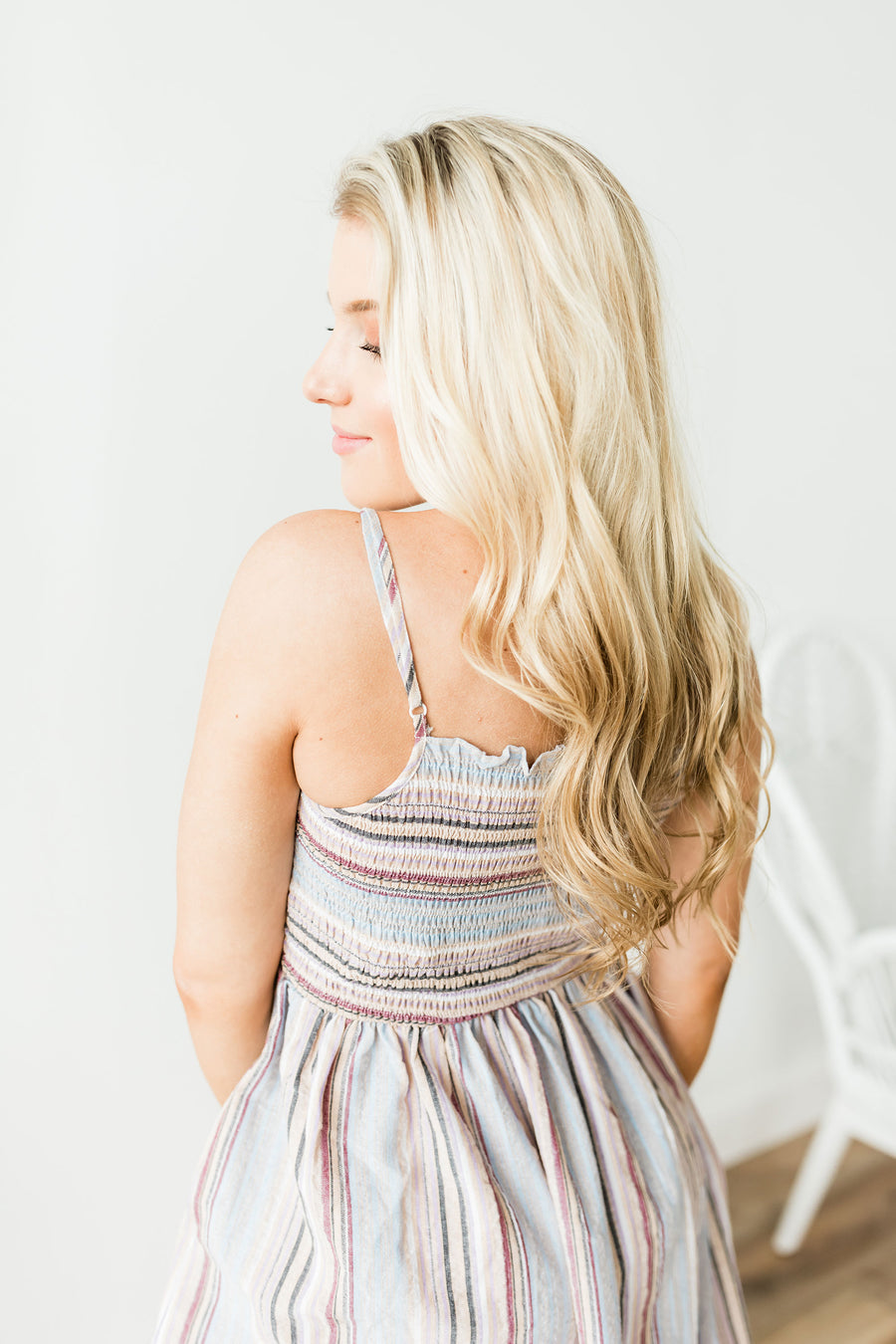 Northern Lights Dress - Multi Stripe