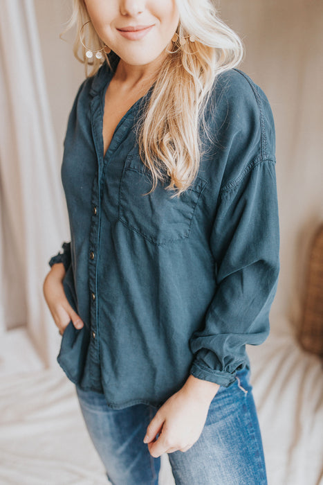 The Friday Button Up Shirt - Navy