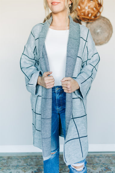 Stay In Line Sweater Cardigan