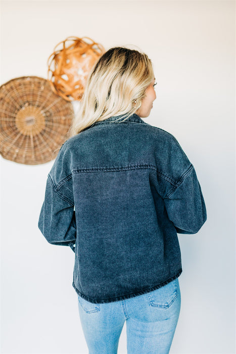 Back in the Day Denim Jacket - Black