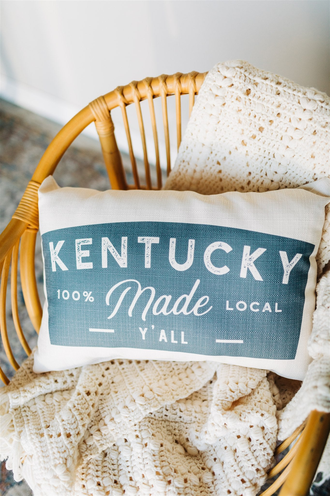Kentucky Made Y'all Pillow