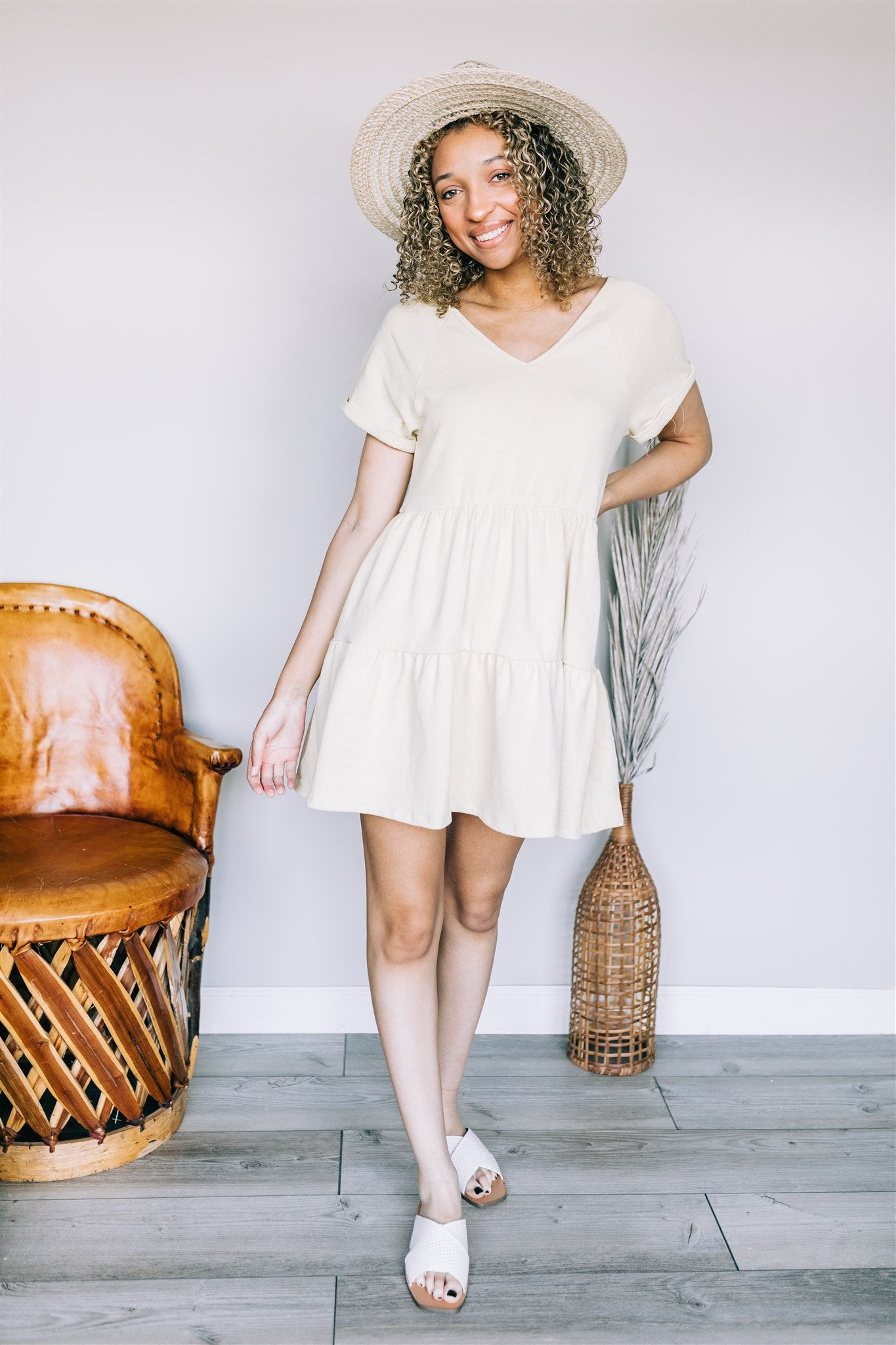 Ashley Dress - Honey