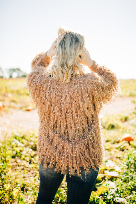 Unfringed Cardigan - Taupe