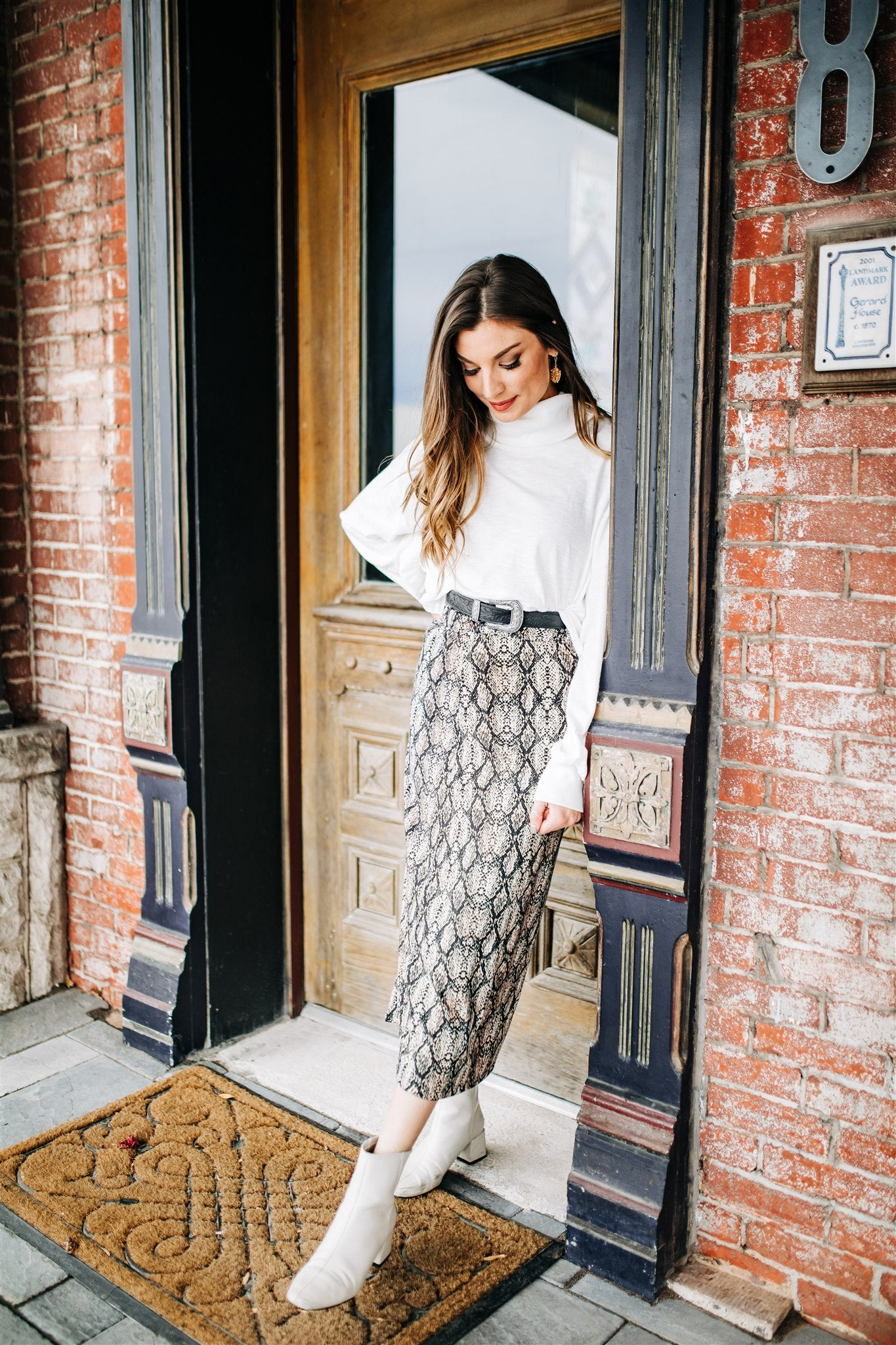 Bold Moves Midi Skirt
