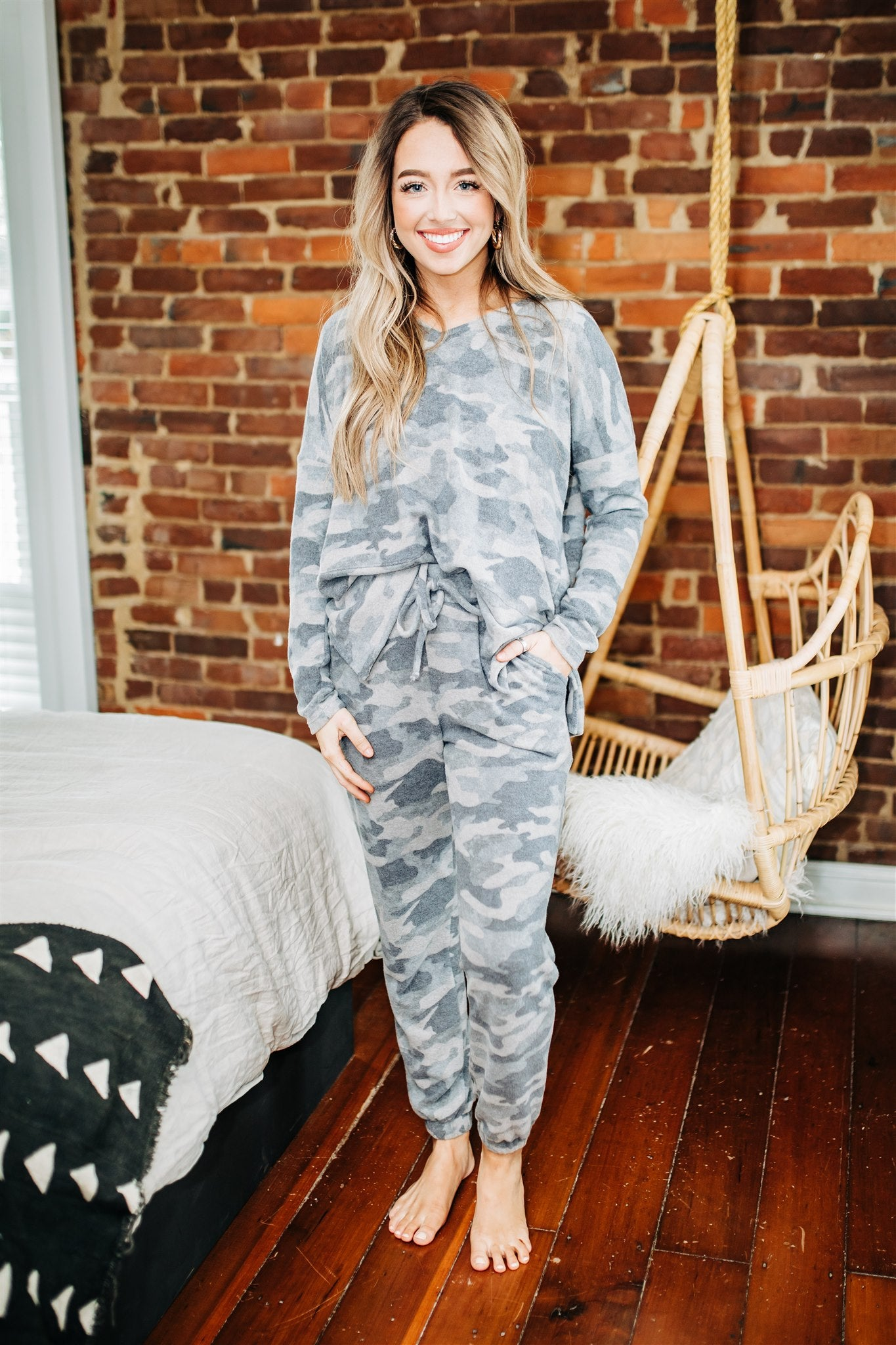 Movie Night Lounge Set - Camo