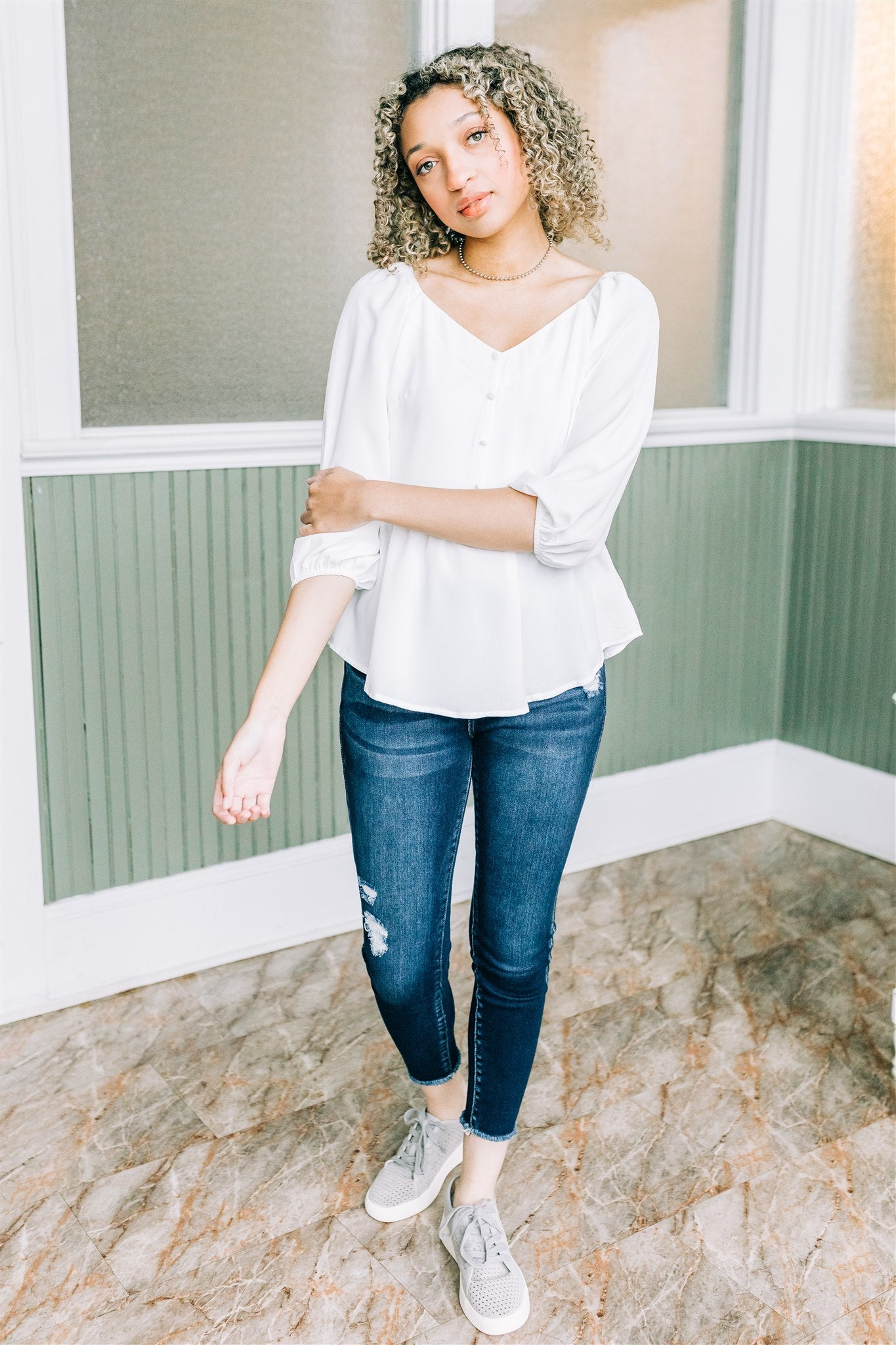 She's A Sweetheart Blouse - Ivory