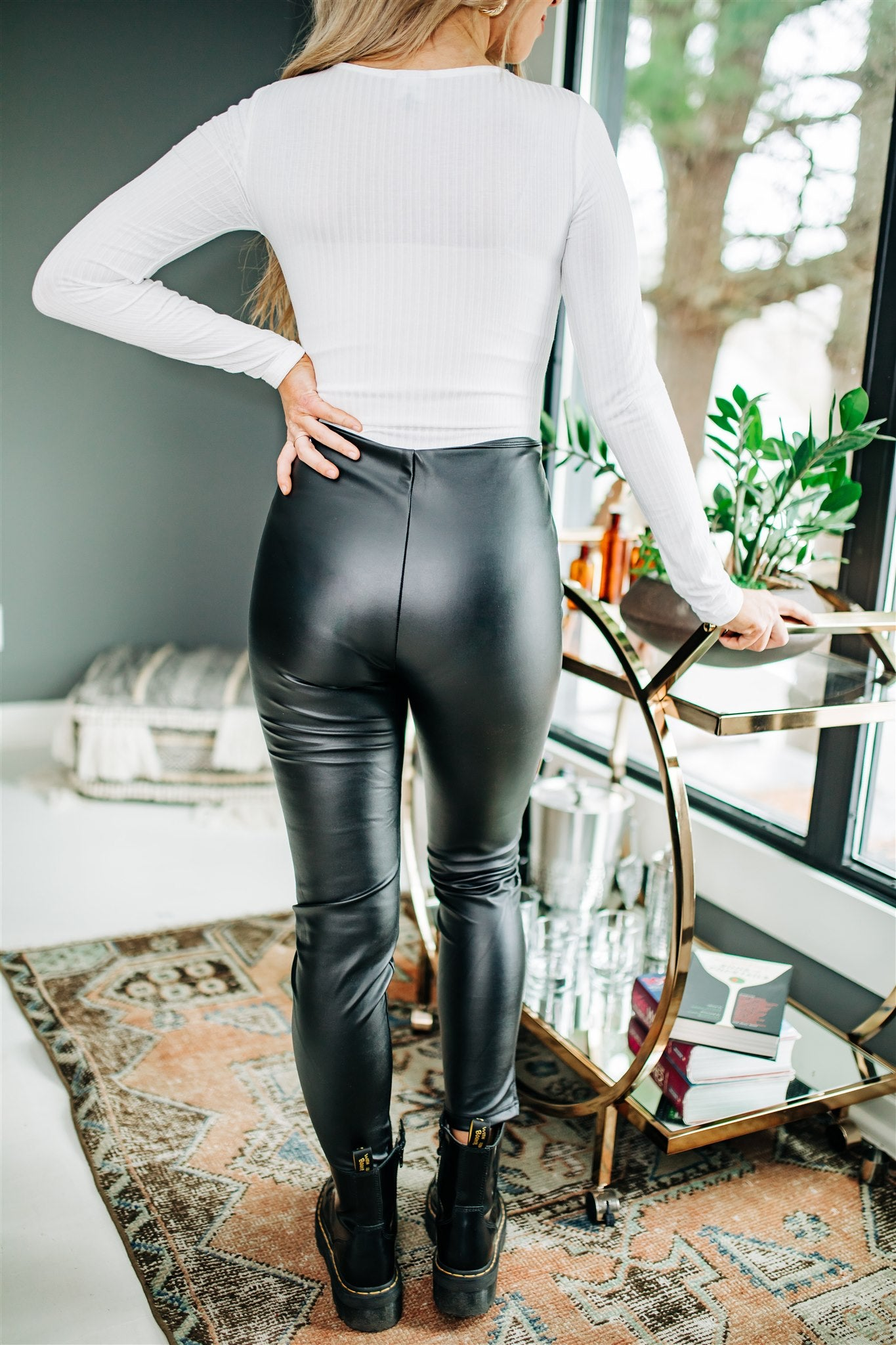Take the Lead Leather Pants - Black