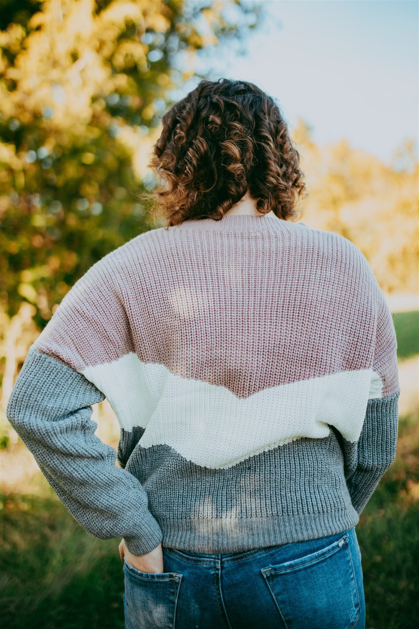 Painted in Color Sweater - Mauve
