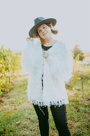 Unfringed Cardigan - Off White