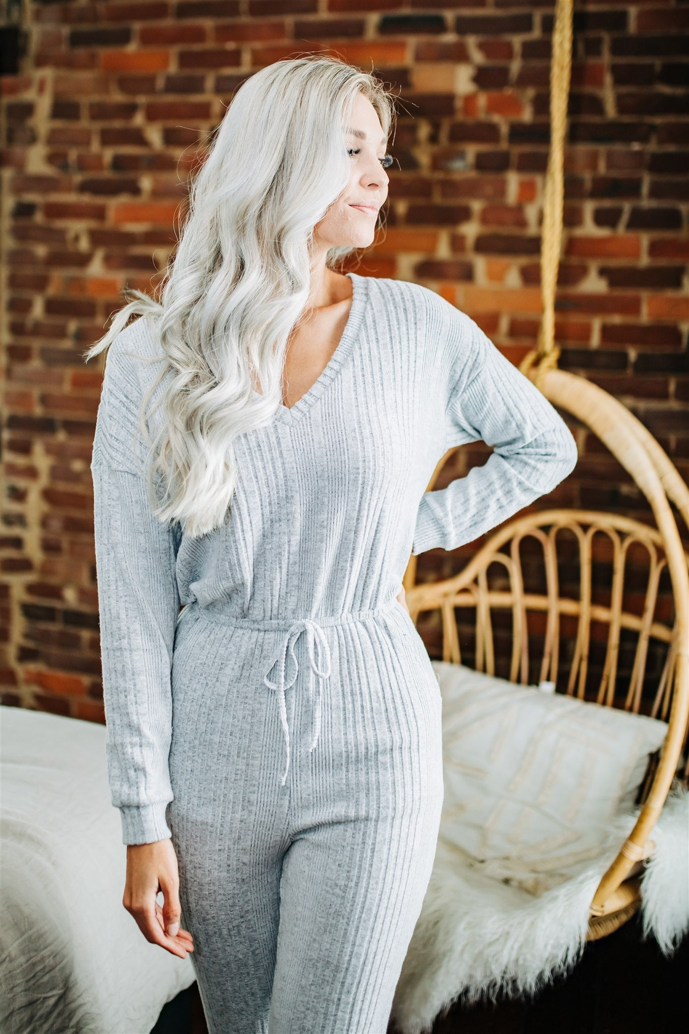 Staying In Jumpsuit - H. Grey