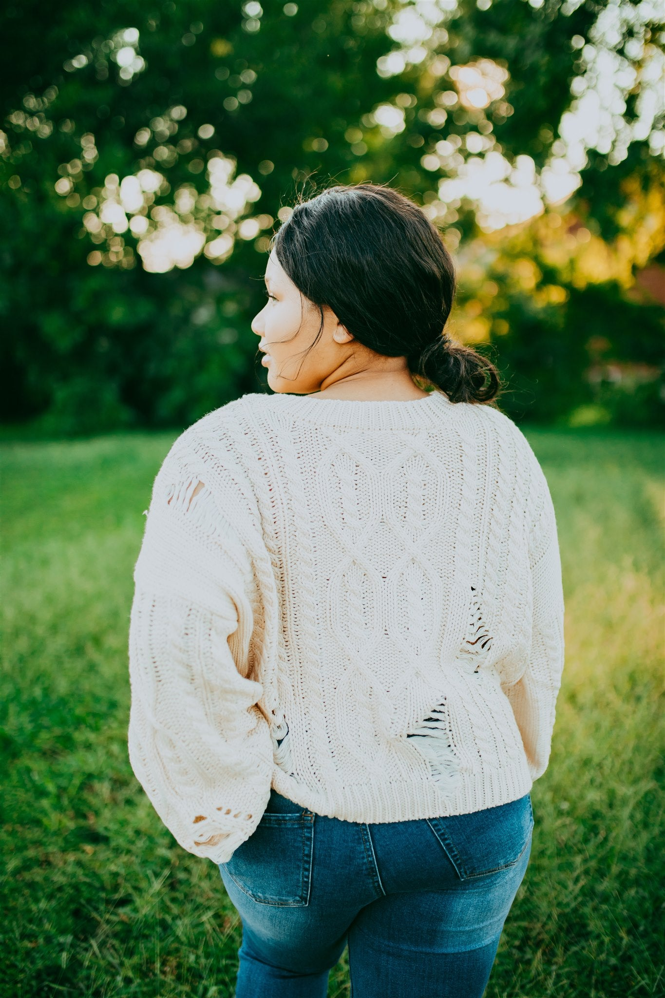 Chilly Days Sweater - Creme