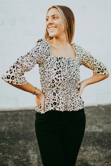 Chic Happens Top - Leopard Mix