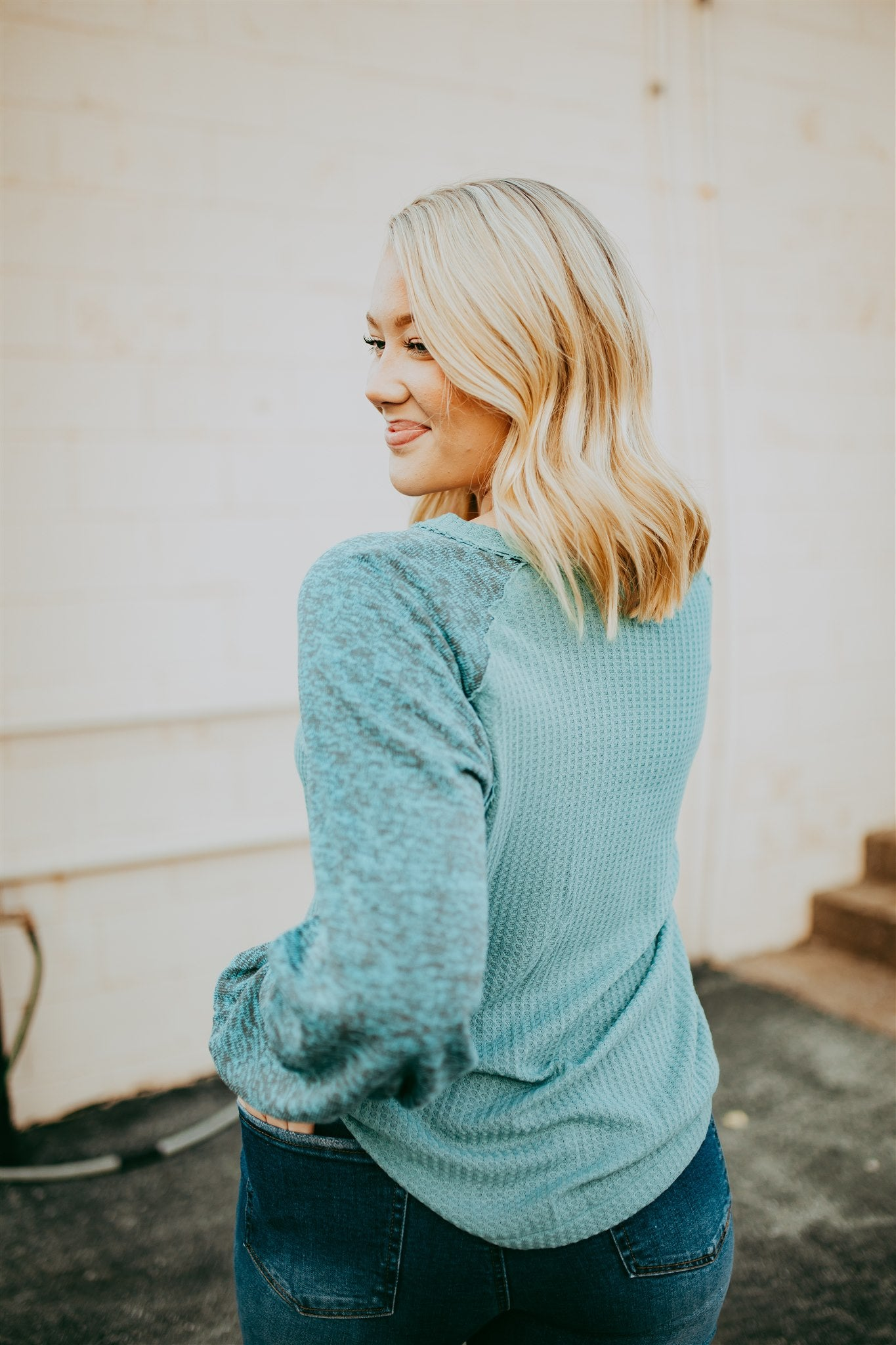 Rise and Thrive Top - Mint
