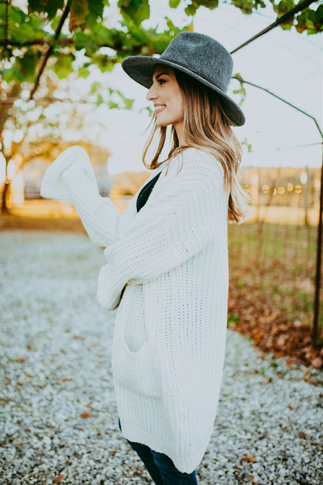 Happy Hour Cardigan - Cream