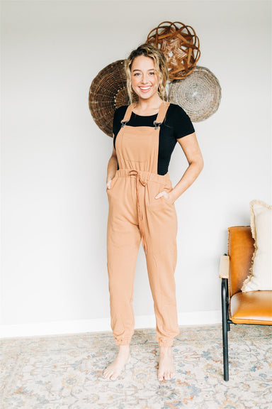 Glamping Overalls - Camel