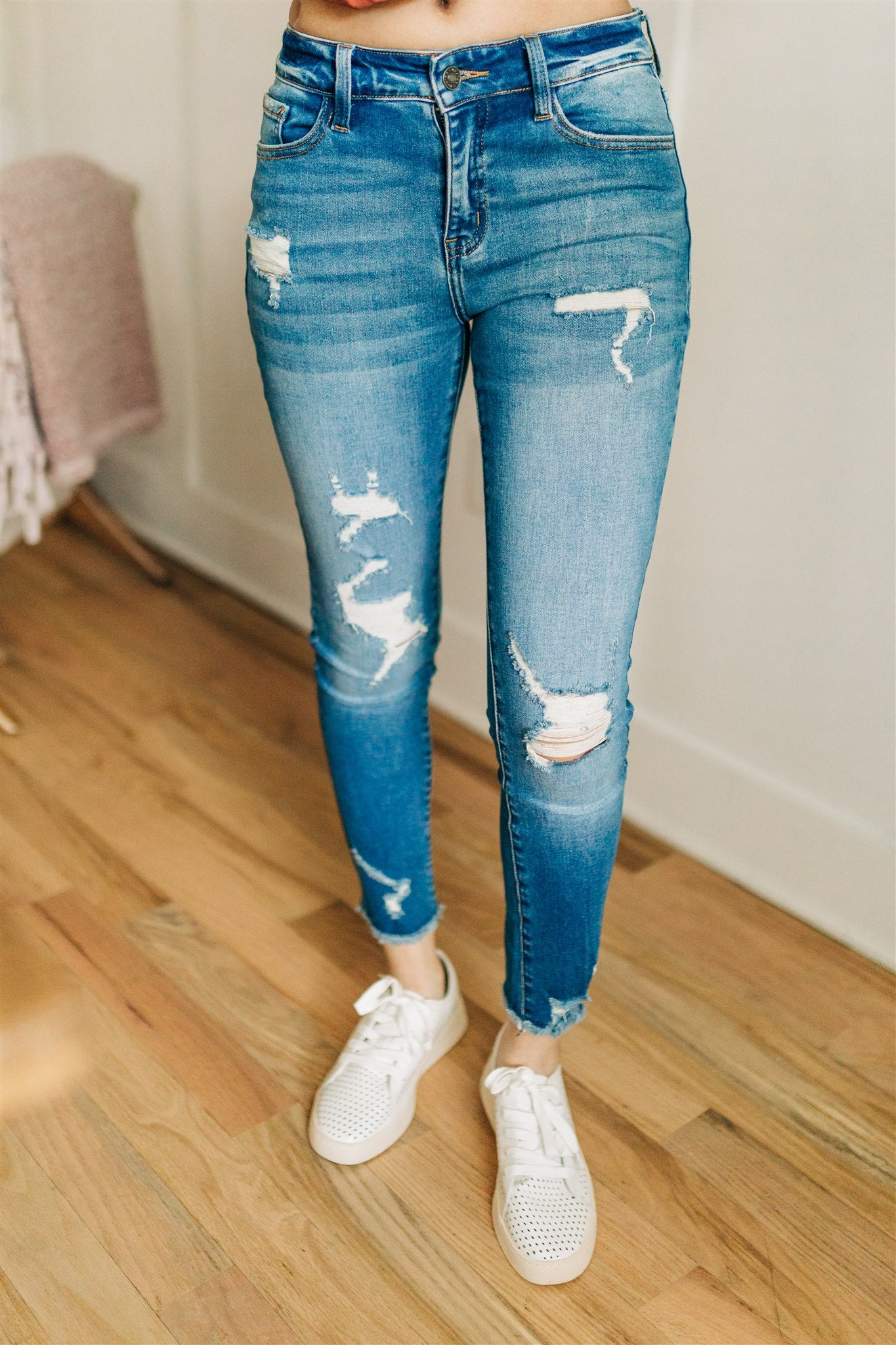 Take Me Home Distressed Skinny Jeans