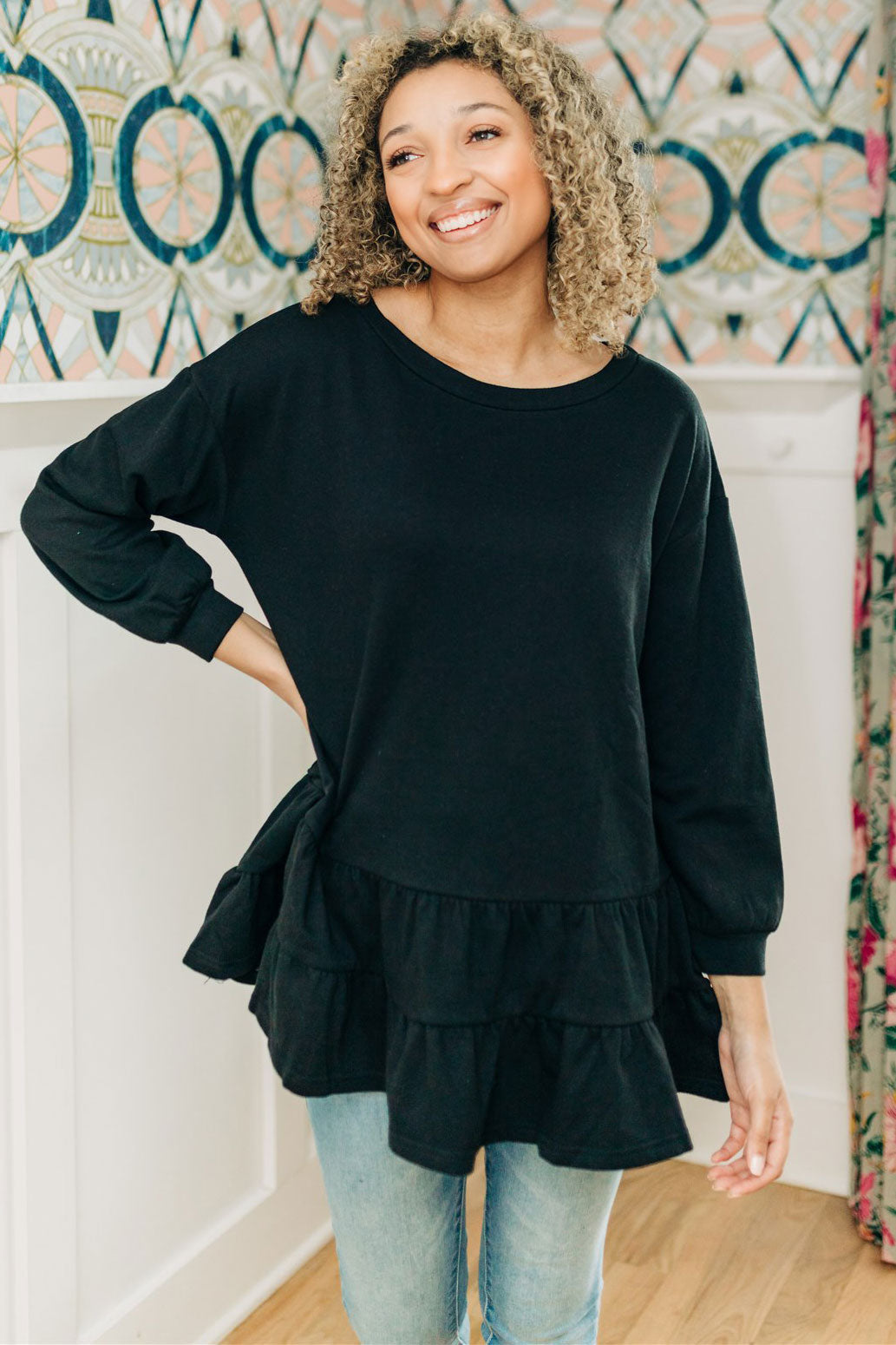 Before You Go Tunic - Black
