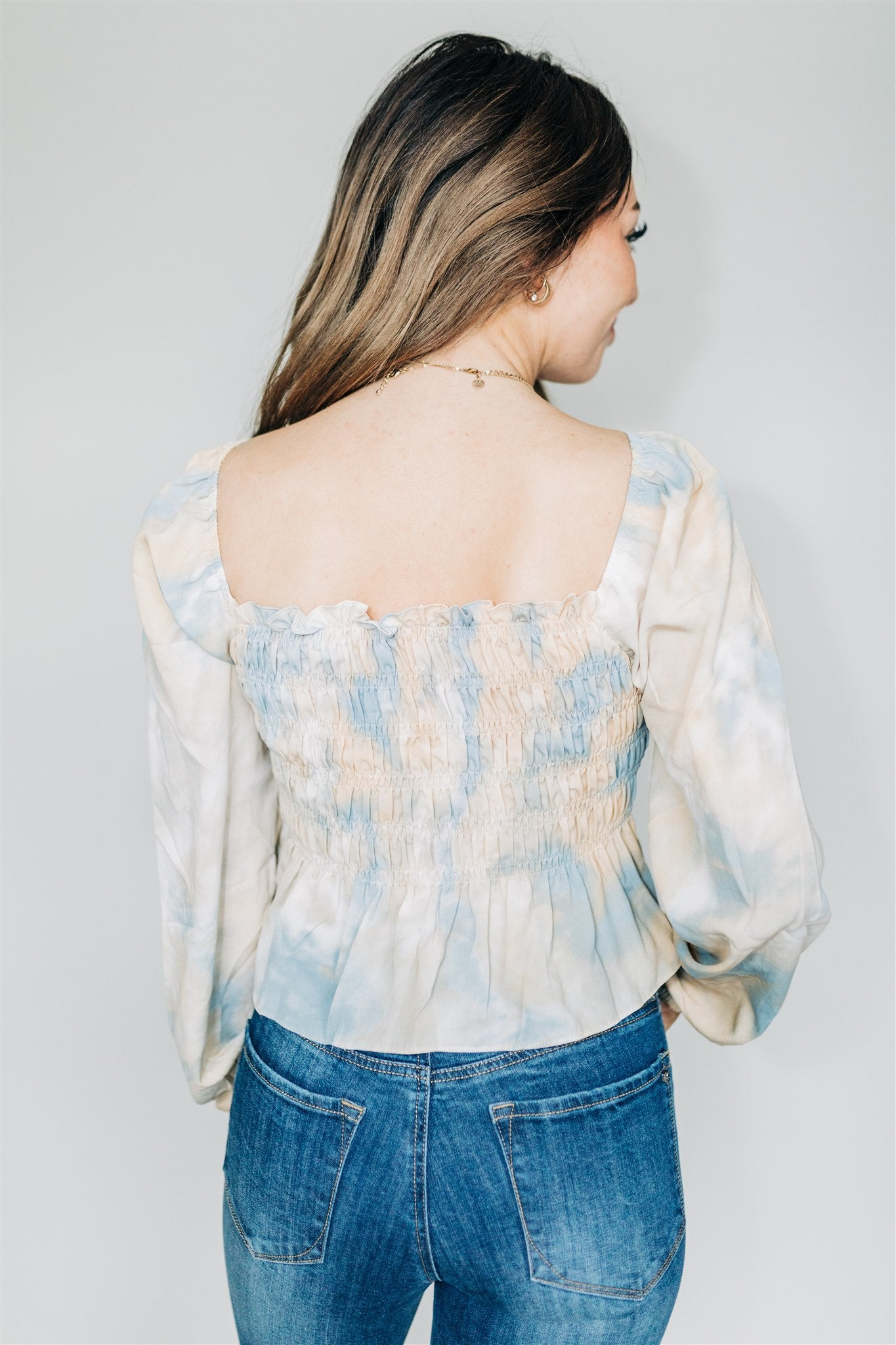 Once Upon a Dream Top - Blue/Tan