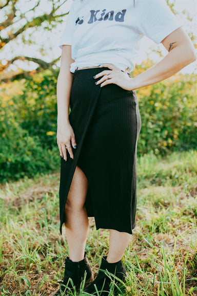 All is Good Midi Skirt - Black
