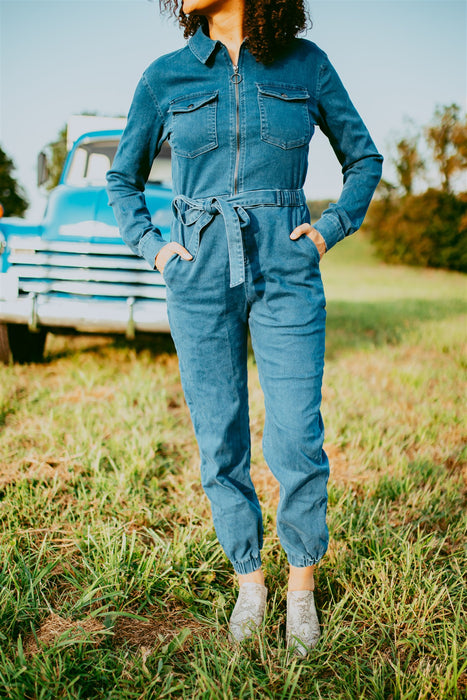 Rosie Jumpsuit - Dark Wash