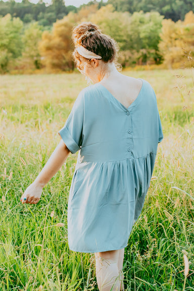 Emerson Dress - Dusty Blue