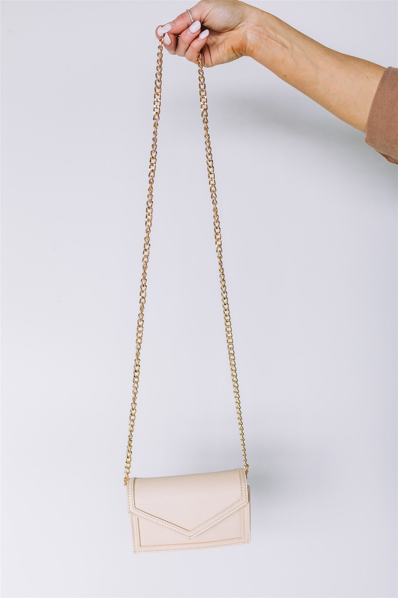 The Essentials Leather Mini Bag - Nude