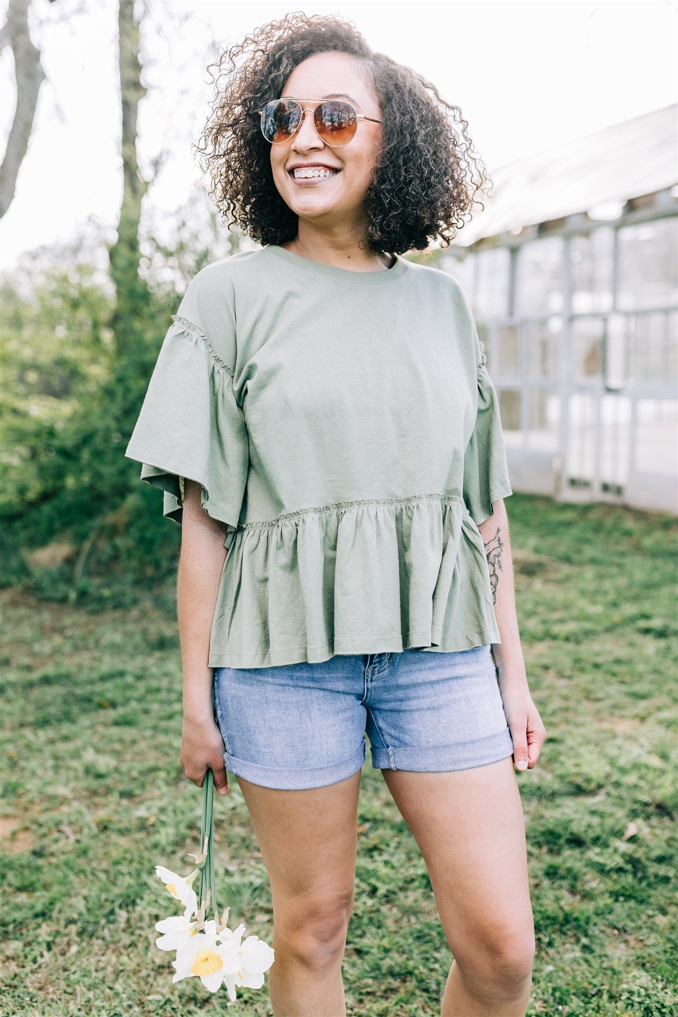 All Occasions Top - Olive