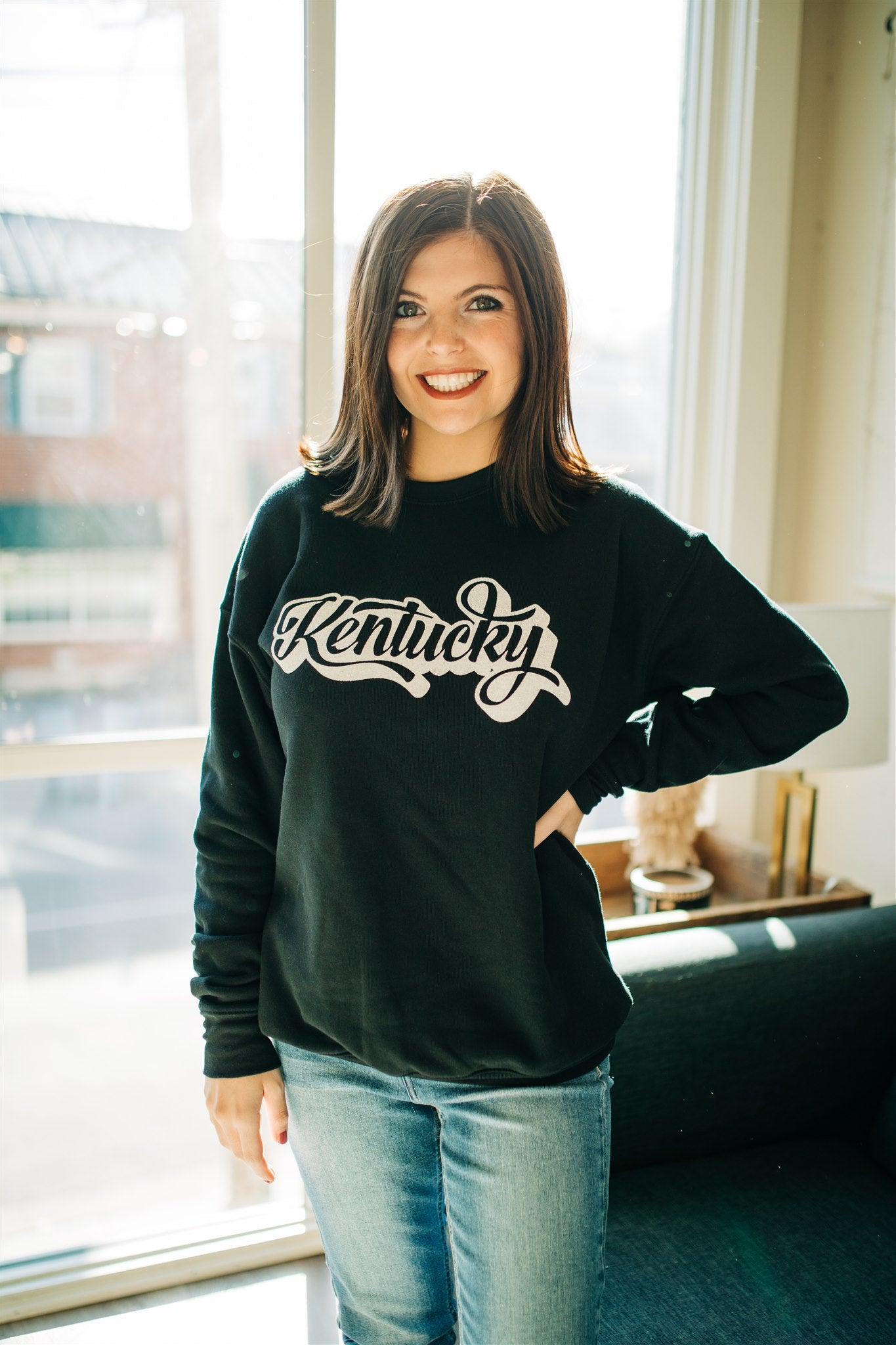 Kentucky Fleece Pullover - Black