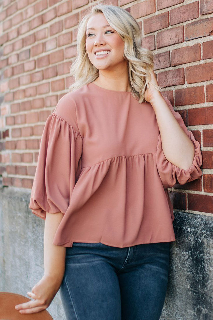 Madeline Blouse - Clay