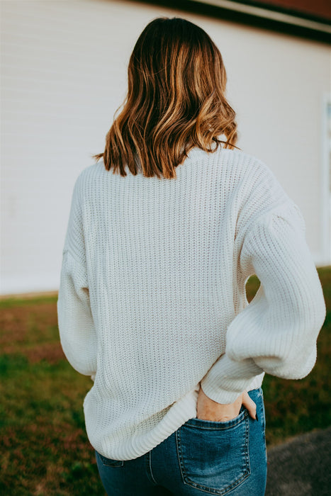 Snuggle In Sweater - Ivory