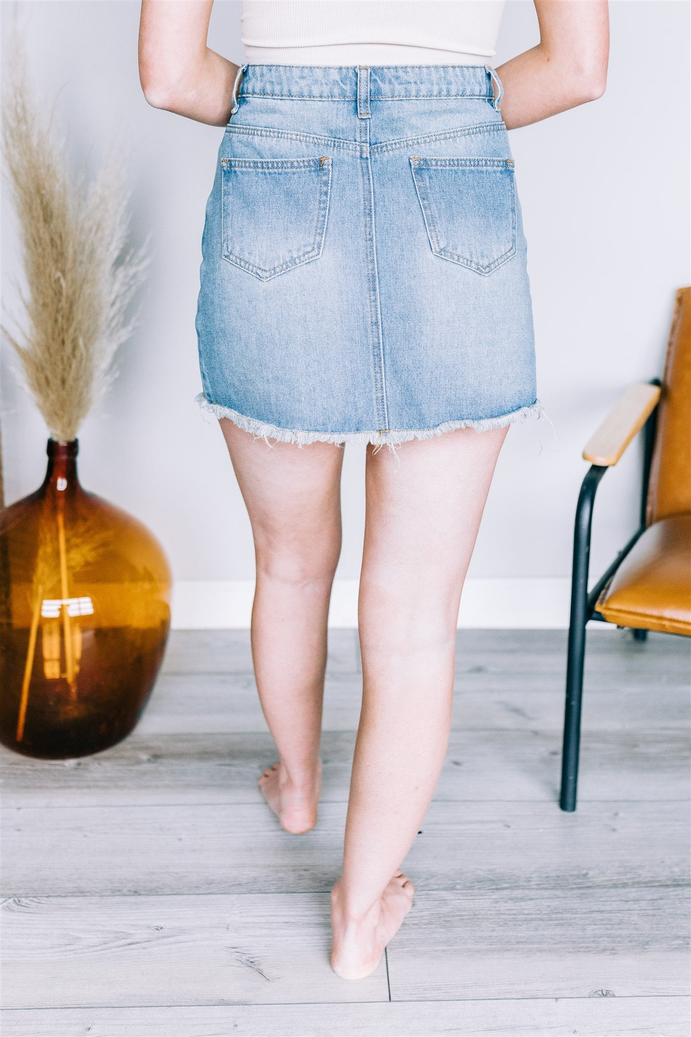 Wrapped Around Me Denim Skirt