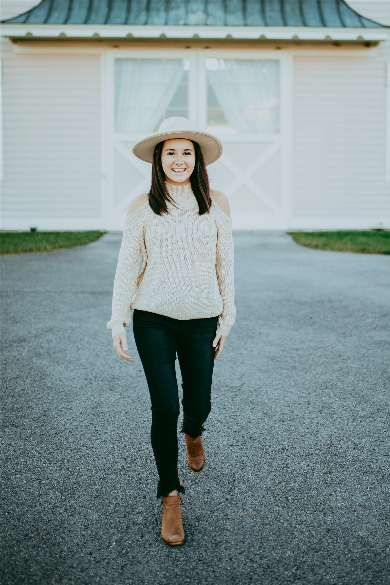 Give Them the Cold Shoulder Sweater - Ivory