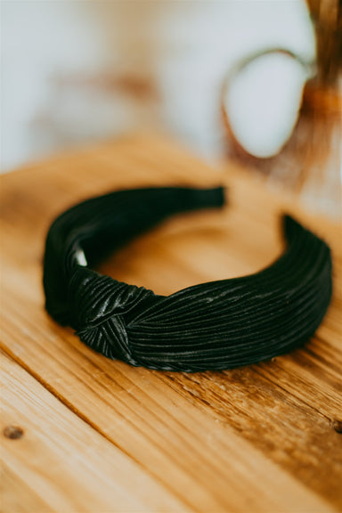Pleated Headband - Black