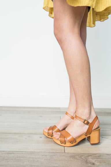 Susan Leather Heels - Natural