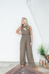 Made You Look Jumpsuit - Olive