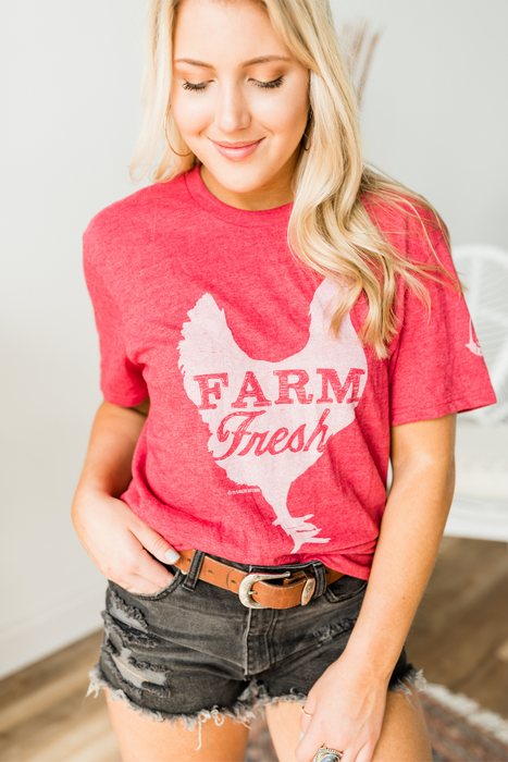Farm Fresh Tee - Vintage Red