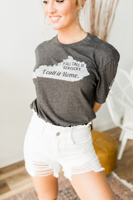 I Call it Home Tee - Vintage Charcoal