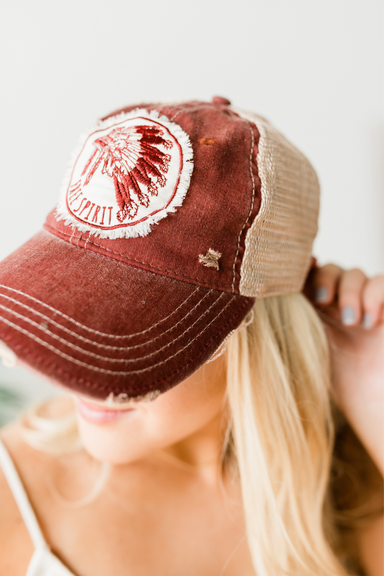 Free Spirit Hat - Distressed Cardinal
