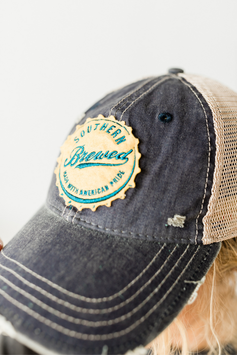 Southern Brewed Hat - Distressed Navy