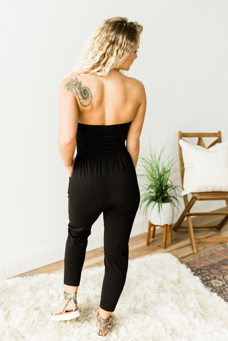 Midnight Magic Jumpsuit - Black