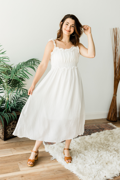 Lost in the Light Dress - White