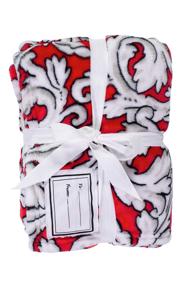Cozy Blanket, Acanthus (RED)