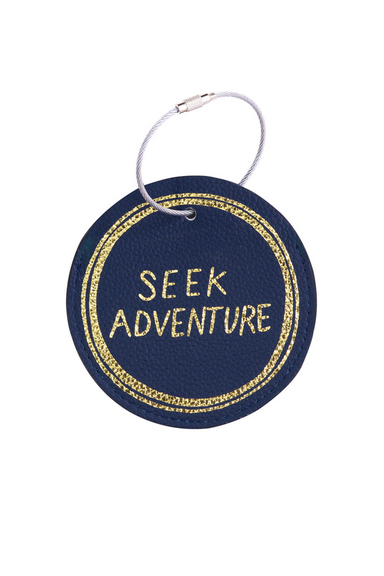 Luggage Tag, Seek Adventure (Navy) (MH)